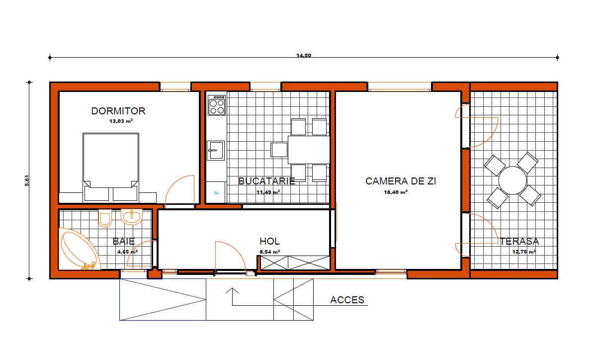 Casa middle v2 case de lemn for Planuri de case