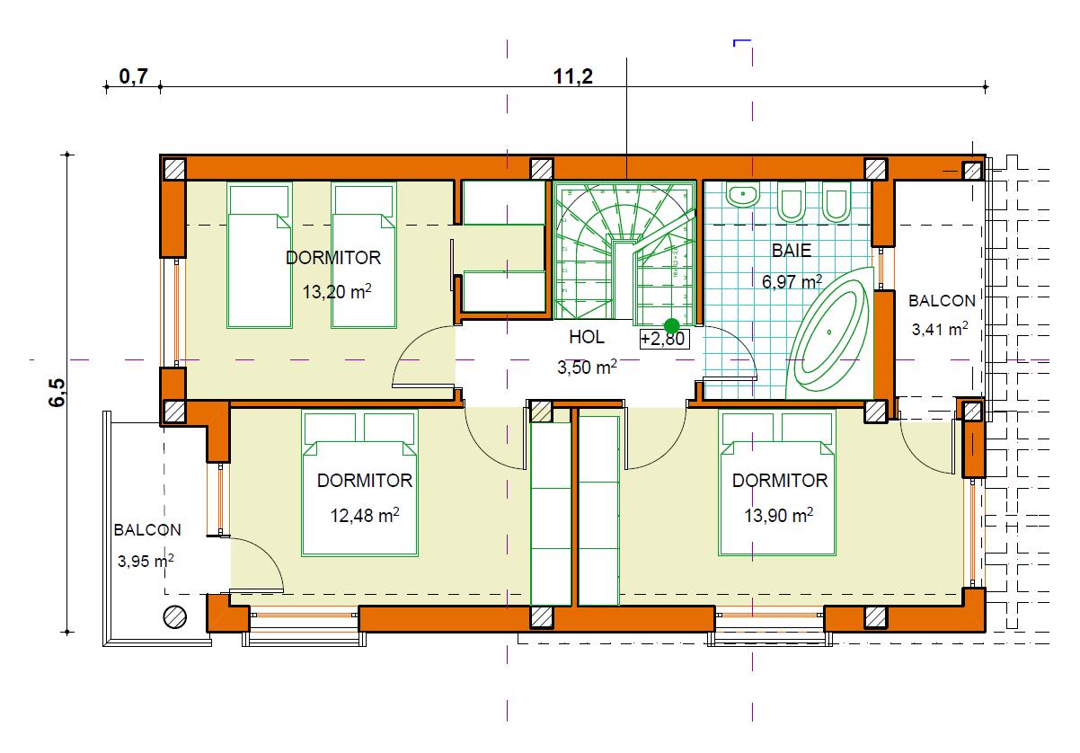 Casa dorina case de lemn for Planuri de case